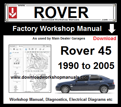 Rover 45 Workshop Service Repair Manual Download