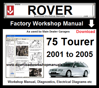 Rover 75 tourer workshop service repair manual download