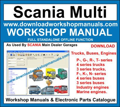 Scania Workshop Manual and Electronic Parts Catalogue Download