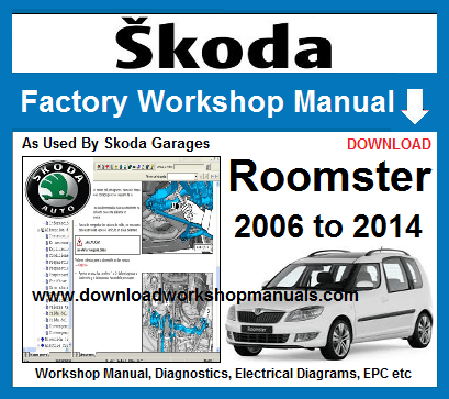 Skoda Roomster Workshop Manual Download