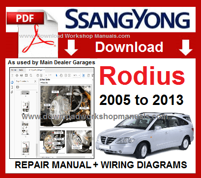 Ssangyong Rodius Workshop Repair Manual Download