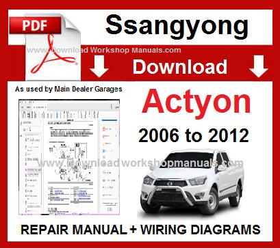 daewoo korando 1999 2002 service repair manual