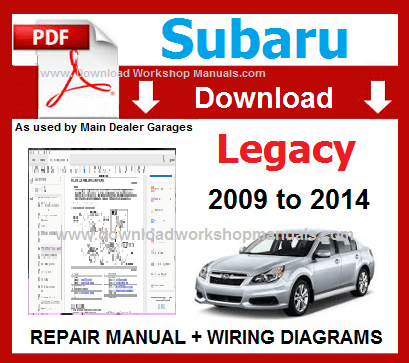 Subaru Legacy Workshop Repair Manual Download