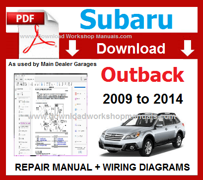 Subaru Outback Workshop Repair Manual Download