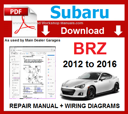 Subaru BRZ Workshop Repair Manual Download