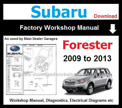 2009-2011 subaru forester factory service repair manual on disc sh.