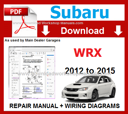subaru wrx workshop service repair manual pdf