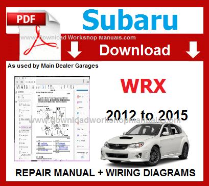 2012 subaru legacy outback service repair manual download