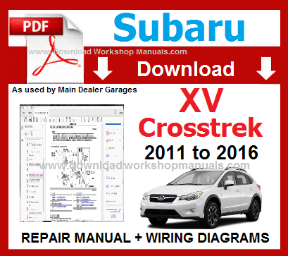 Subaru XV Workshop Repair Manual Download
