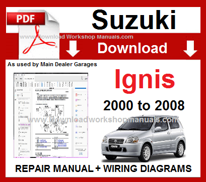 Suzuki Ignis Service Repair Workshop Manual