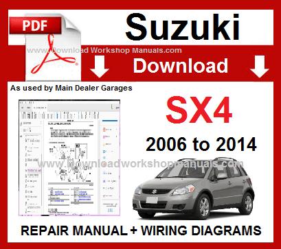 suzuki sx4 engine diagram suzuki sx4 workshop repair manual download  suzuki sx4 workshop repair manual download