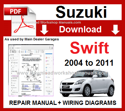 suzuki swift rs415 service repair manual download 2004 2010