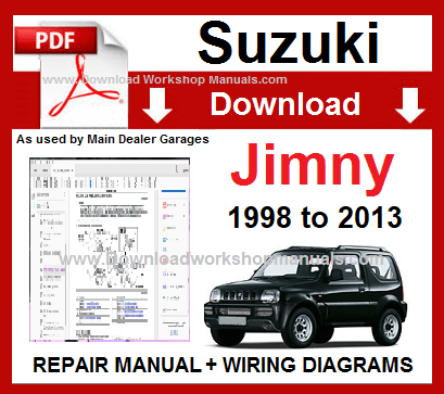 Suzuki Jimny Service Repair Workshop Manual
