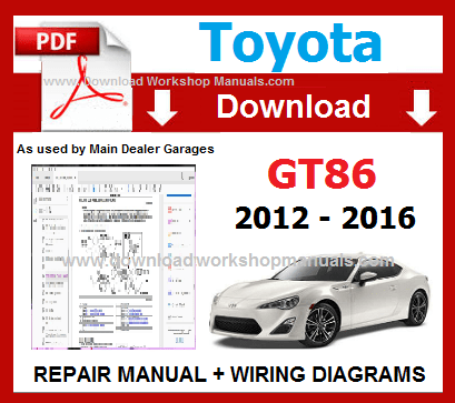 Toyota 86 Service Repair Workshop Manual pdf