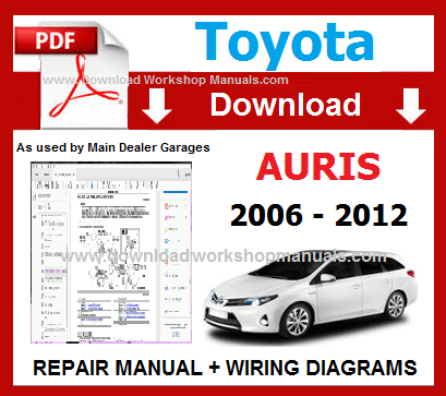 Toyota Auris Workshop Repair Manual Download pdf