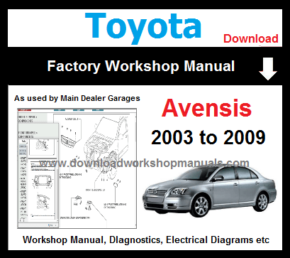 Toyota Avensis Repair Manual Download