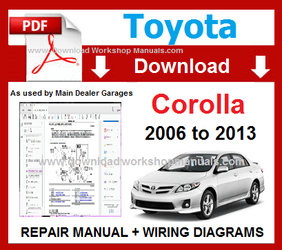 Toyota Corolla 2006 to 2013 Repair Manual Download pdf