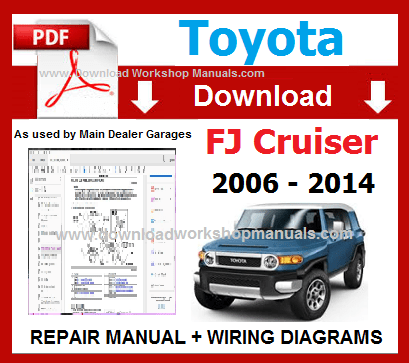 Toyota FJ Cruiser Service Repair Workshop Manual pdf