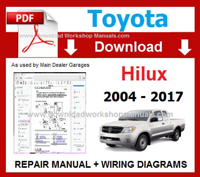 Toyota Hilux Service Repair Workshop Manual pdf