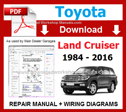 Toyota Land Cruiser Service Repair Workshop Manual pdf