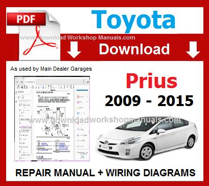 Toyota Prius Repair Manual Download PDF toyota workshop repair manuals download workshop manuals