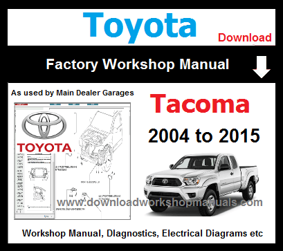 Toyota Tacoma Service Repair Workshop Manual