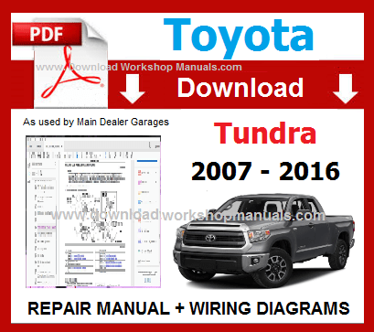 Toyota Tundra Service Repair Workshop Manual pdf