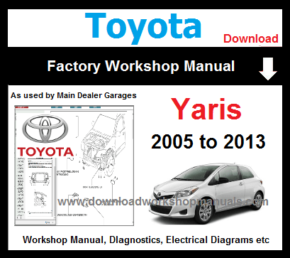 Toyota Yaris Service Repair Workshop Manual