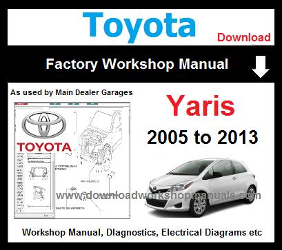 toyota yaris workshop service repair manual download
