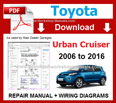 toyota urban cruiser workshop service repair pdf