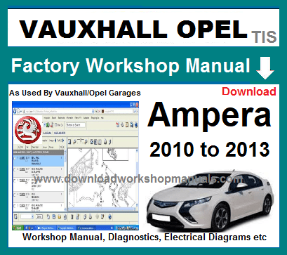 Vauxhall Ampera Workshop Service Repair Manual