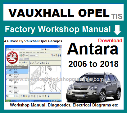 Vauxhall Antara Workshop Manual Download