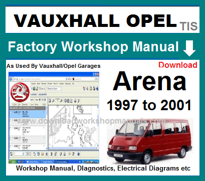 Vauxhall Arena Workshop Repair Manual