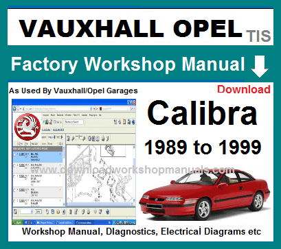 Vauxhall Calibra Workshop Repair Manual
