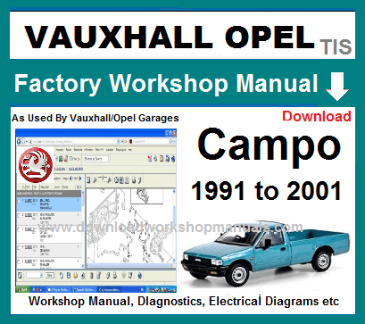 Vauxhall Campo Workshop Repair Manual