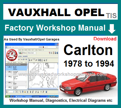 Vauxhall Carlton Workshop Repair Manual