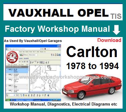 vauxhall carlton service repair manual rh downloadworkshopmanuals com