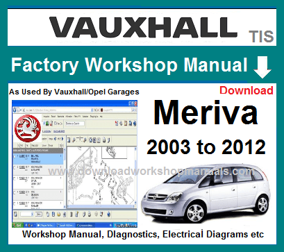 Vauxhall Meriva Workshop Repair Manual