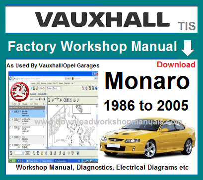Vauxhall Monaro Workshop Repair Manual