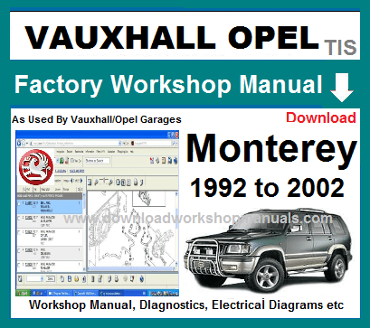 Vauxhall Monterey Repair Manual on 4l80e diagram, allison transmission diagram, transmission fault codes,