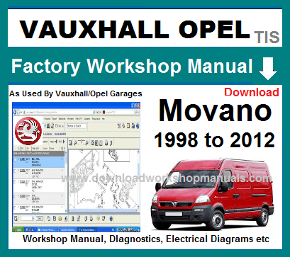 Vauxhall Movano Workshop Repair Manual Download