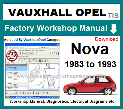 Vauxhall Nova Workshop Repair Manual
