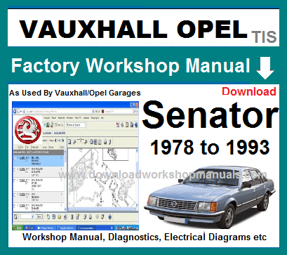 Vauxhall Senator Workshop Repair Manual