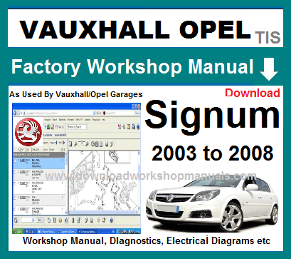 Vauxhall Signum Workshop Repair Manual