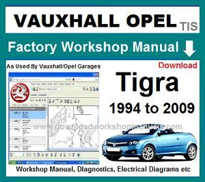 [SCHEMATICS_48IU]  Vauxhall Tigra Workshop Repair Manual | Opel Tigra Wiring Diagram |  | Download Workshop Manuals .com