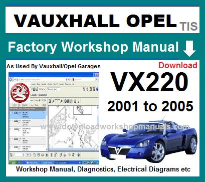 Awe Inspiring Vauxhall Vx220 Workshop Repair Manual Wiring Digital Resources Honesemecshebarightsorg