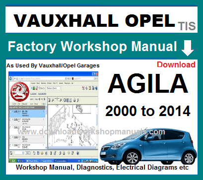 vauxhall opel agila workshop manual download