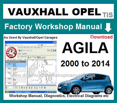 Groovy Vauxhall Agila Workshop Repair Manual Wiring Database Wedabyuccorg