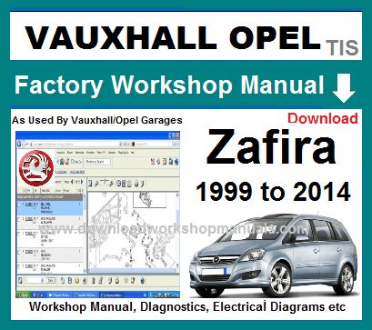 Vauxhall Zafira Service Repair Manual on