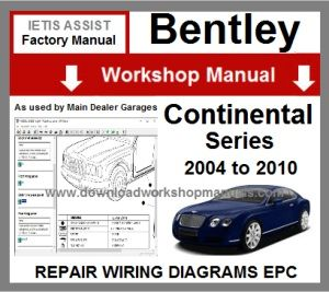 Bentley continental Workshop Repair Manual Download